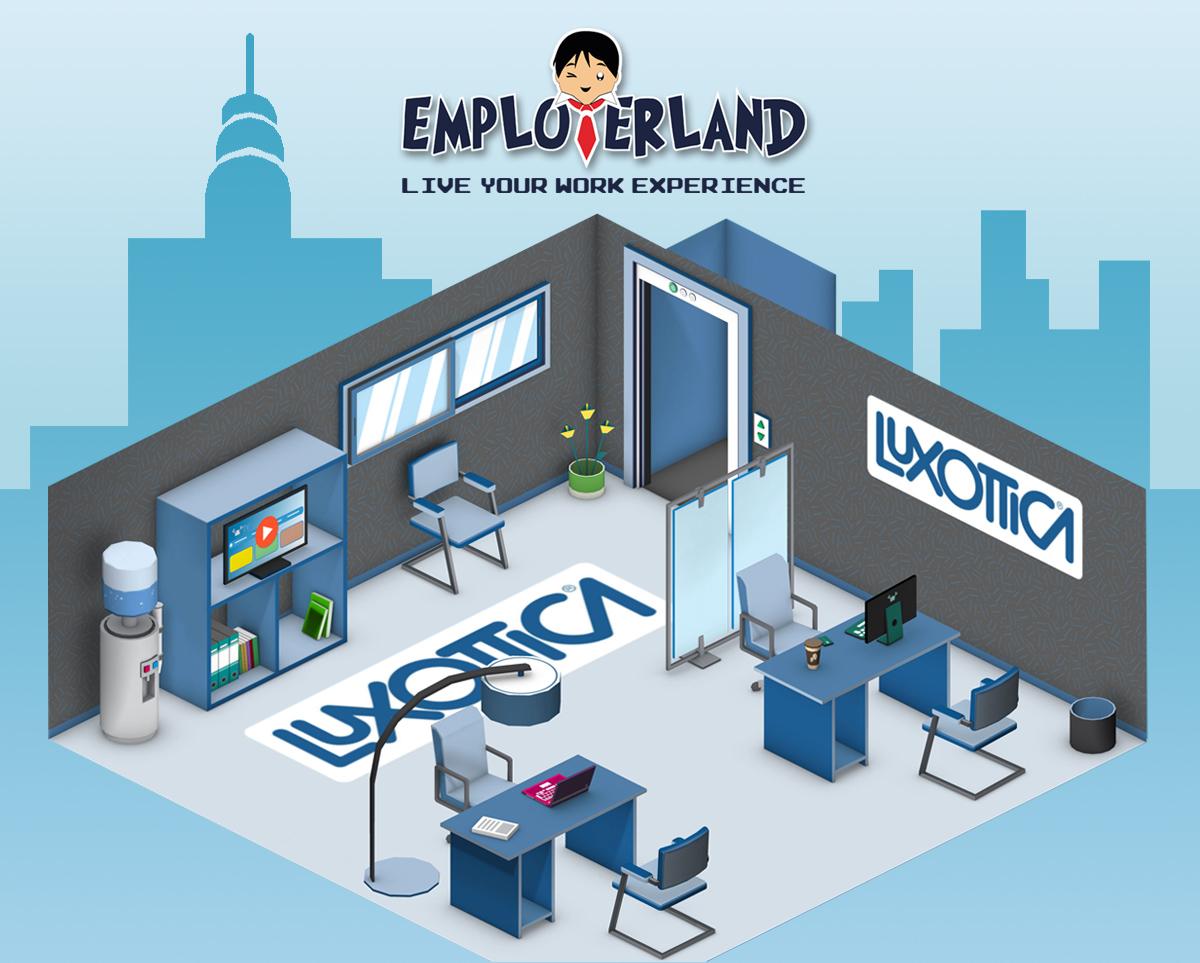 Luxottica in employerland dove il lavoro un gioco ma for Crea il tuo avatar arreda le tue stanze